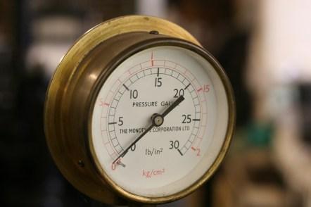 Pressure Guage at Whittington Press © Sarah Dixon 2015