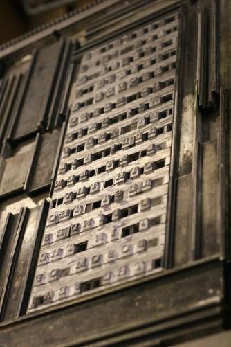 Type Set Code Poetry at Whittington Press © Sarah Dixon 2015