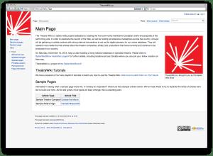 Screenshot of TheatreWiki.ca