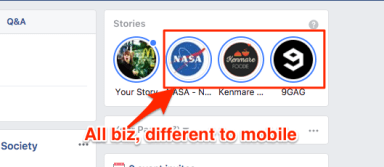 Facebook stories are already having impact for business