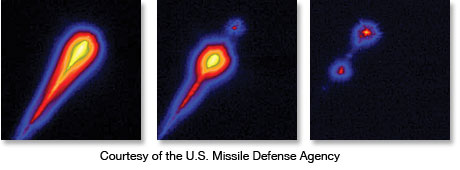 IR images of Airborne Laser Testbed