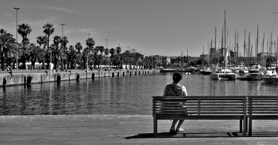 Barcelona Harbour Lonelyness