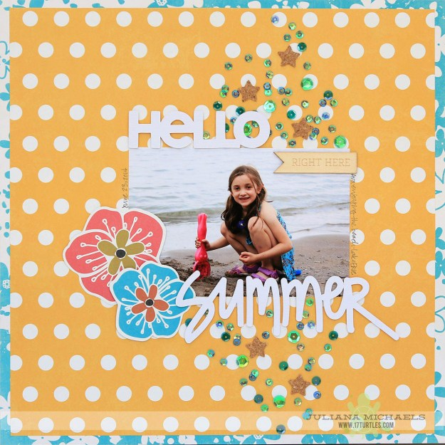 @spiegelmomscraps @julianamichaels @17turtles @spiegelmomscraps, #17tutles #julianamichaels #cutfile #silhouette #summer #scrapbook #layering #sequins #superstarcork #cork #star #loosesequins #diecut #hello #bigpictureclasses