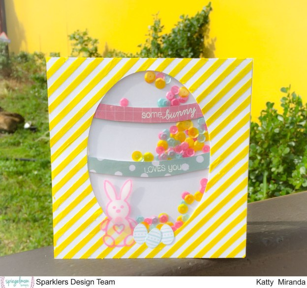 Easter Shaker Card with Katty Miranda