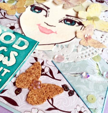 @spiegelmomscraps @jodyspiegelhoff @janedavenport @kenoliver @colorburst @bobunny @prima #sequins #cork #fussycut #kenoliver #colorburst #janedavenport #mermaidmarkers #stamping #face #greetingcard #butterflies #bobunny #patternedpaper