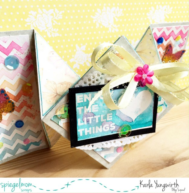 Creative Cards With Karla – Watercolour Diamond Fold Card!