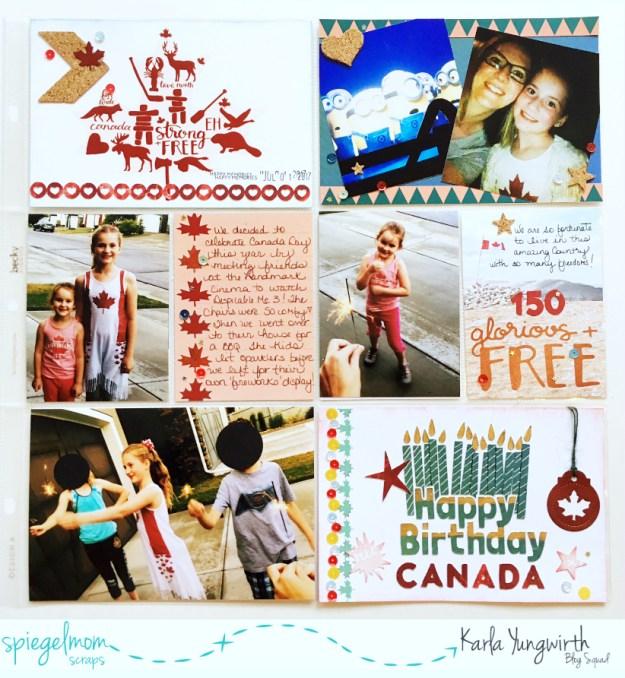 @spiegelmomscraps @jodyspiegelhoff @wildwhisper @cricut #sequins #smssequins #cork #embellishments #patternedpaper #strongandfree #canadaday150 #gloriousandfree #happybirthday #canada #despicableme3 #scrapbooking #pocketpagescrapbooking #diecutting #cutfiles