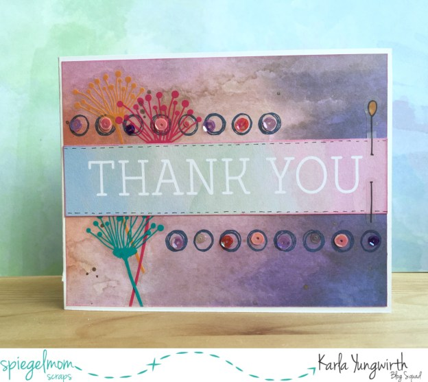 Cards with Karla – Quick and Easy Artsy Thank You Card!