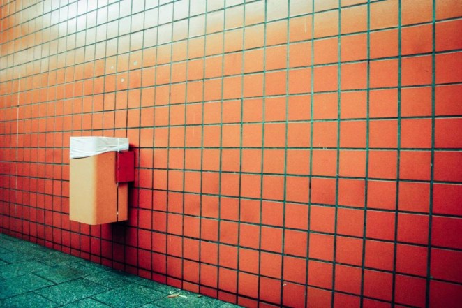 The tiled wall and floor are simple real life examples of tessellation