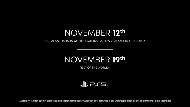 PlayStation 5 launch dates