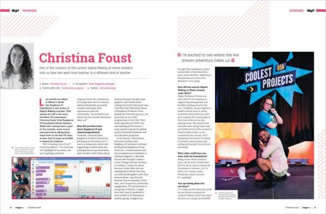 Christina Foust interview
