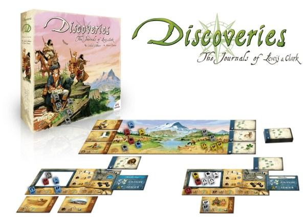 Spielaufbau Brettspiel Discoveries