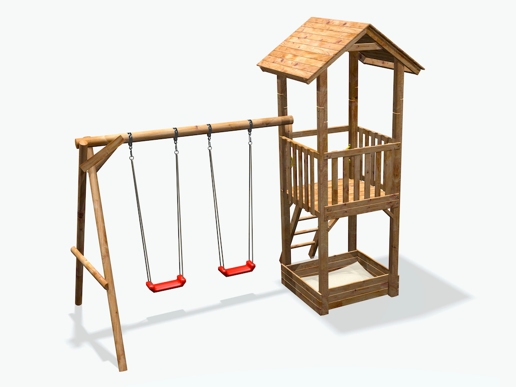 Bevorzugt Spielturm Sandkasten Schaukel | Spielhaus Mit Rutsche Und Schaukel QT31