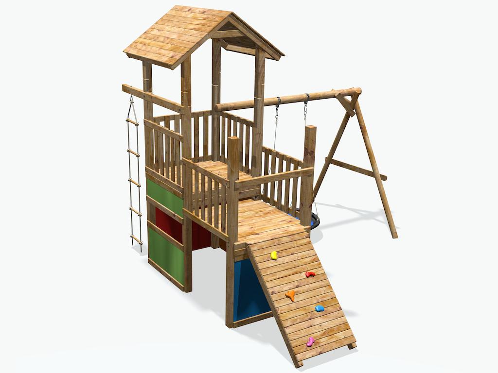 Spielturm Mit Schaukel Günstig Stelzenhaus Mit Schaukel