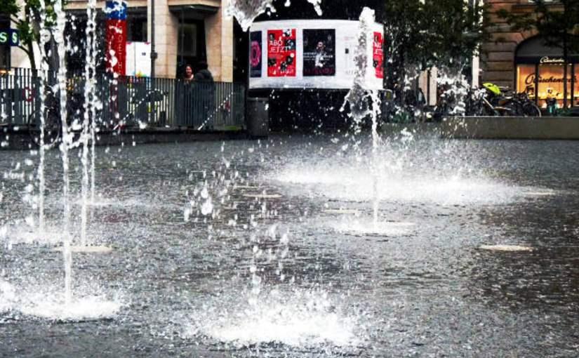 Ein echter Spring-Brunnen