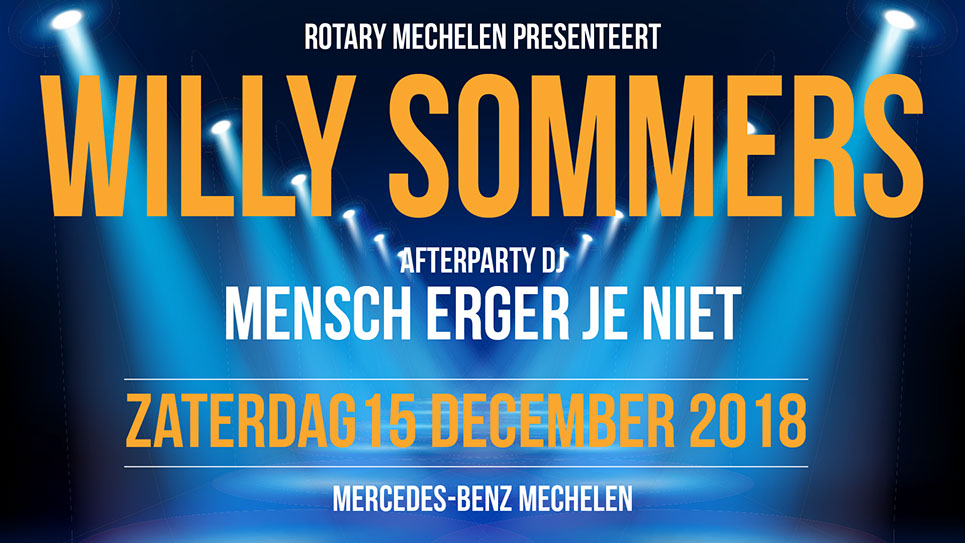 tribe-loading Fundraising concert met Willy Sommers en after party met DJ Mensch, erger je niet!