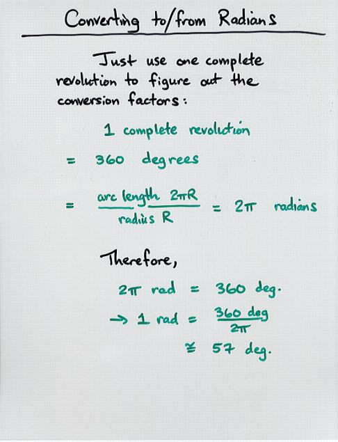 Meters To Radians : meters, radians, Rotational, Kinematics