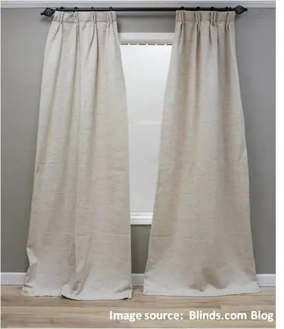 my new custom curtains are flaring at