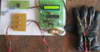 Transmitter block of gloves based dumb assist device