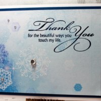Easy Peasy Christmas Cards #36 ~ Thank You