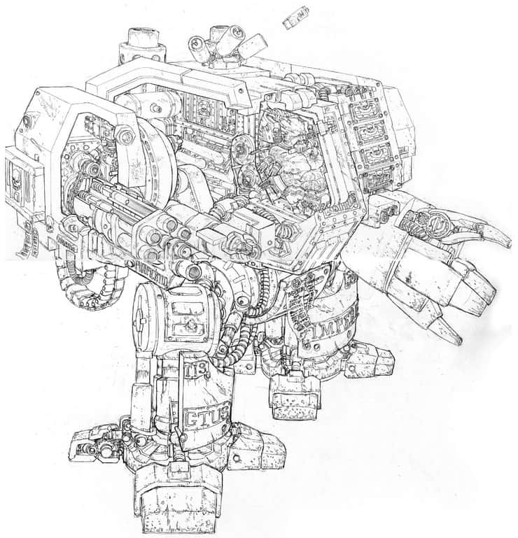 A Look Inside A Space Marine Dreadnought