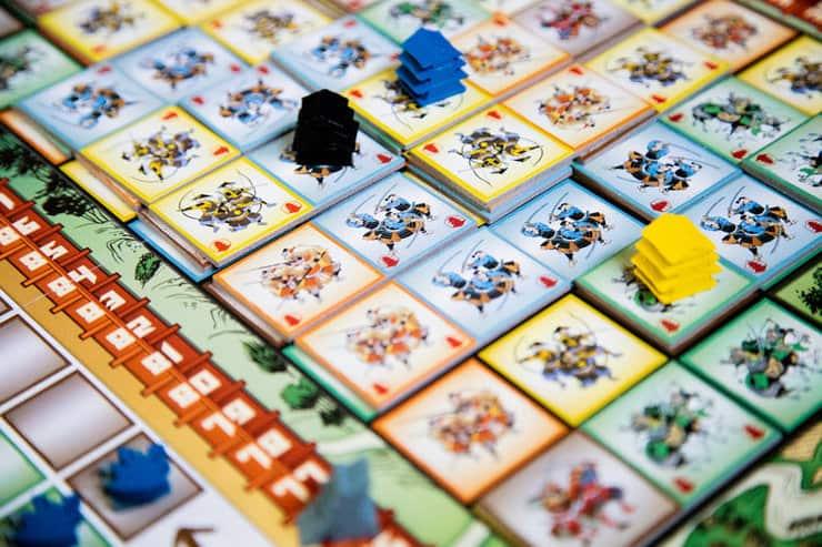 japanese war themed tile laying game