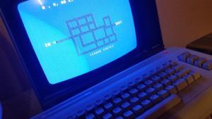Jeg fant frem min gamle Commodore 64 for å spille Data-Tronic-spill.
