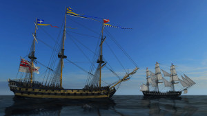 Skutene i spillet er basert på ekte seilskuter.