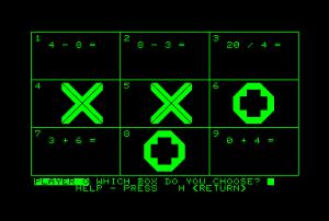 Spillet er basert på Tic Tac Arith for Commodore PET.