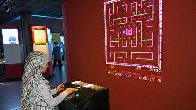 Pac-Man-varianten Lady Bug.