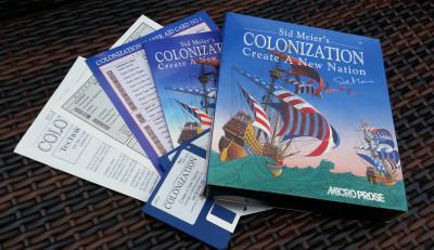 Min Colonization-boks for Amiga, som jeg i sin tid importerte fra England ved å sende en sjekk i posten.