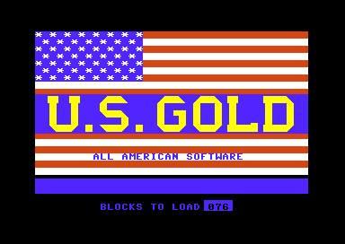 Amerikansk nasjonalsang under lastingen av US Gold-spill.