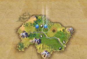 Et slikt syn møter deg ved starten av en kampanje i Civilization VI