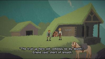 Dialogene er skrevet på rim.