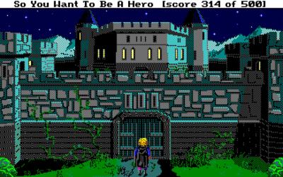 Baronens slott, om natten.