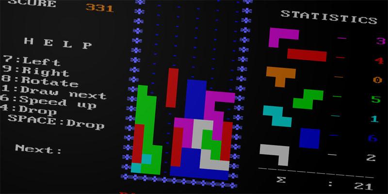 tetris dos