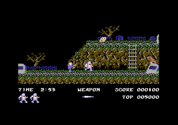 Ghosts 'n Goblins på Commodore 64.