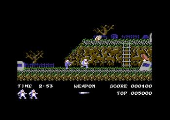 Ghosts 'n Goblins på Commodore 64.