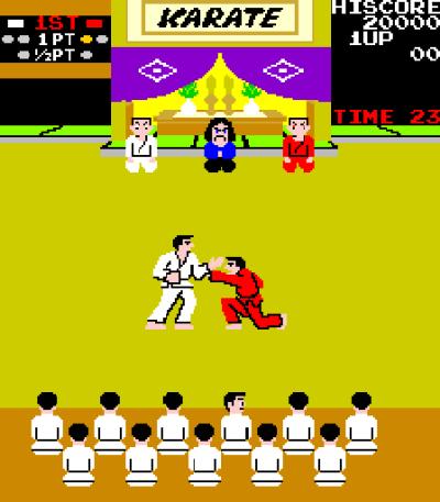 Arkadeversjonen av Karate Champ.