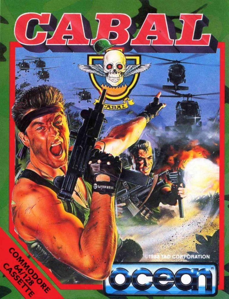 Nok en superkjent boks, i perfekt «åttitalls, Rambo-inspirert skytespill»-stil. Mannen på bilde er basert på en Ocean-ansatt ved navn Carl Pugh.