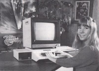 King's Quest-designer Roberta Williams, antakeligvis i 1983.