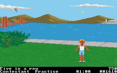 Foot Bag på Amiga. Merk at seilbåten er borte.