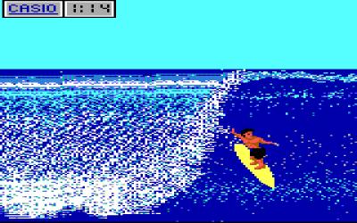 Surfing på PC (EGA).