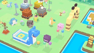 Og Pokemon Quest ser firkantet ut.