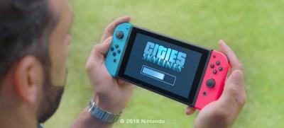 Jeg har ikke funnet noen offisielle skjermbilder fra Switch-versjonen, men vi har dette flotte bildet av en kar som ser på at spillet skal lastes inn.