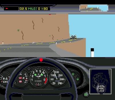 Mega Drive-versjonen av Test Drive II. Bilde: Mobygames.