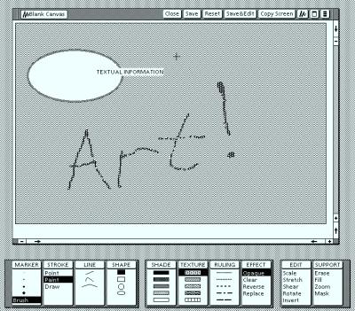Tegneprogram på Xerox Star. Bilde: Josh Dersch.