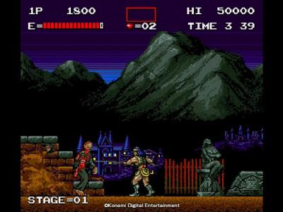 Haunted Castle er det eneste spillet i arkadesamlingen som ikke er et skrollende skytespill.