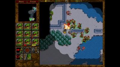 Warcraft II med oppskalert grafikk.