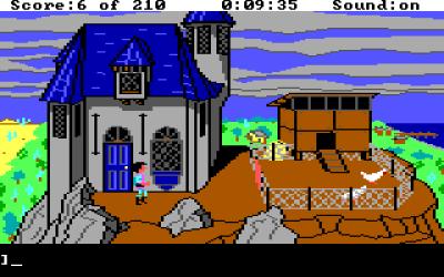 King's Quest III. Her bor du og trollmannen Manannan.